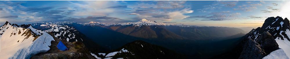 Church Mountain Sunset panorama