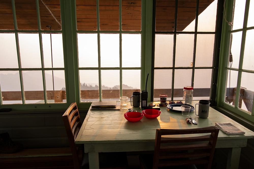 Inside Green Mountain Lookout