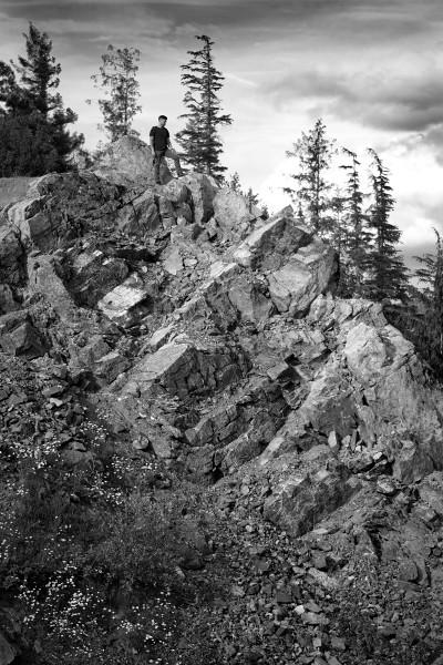 Andrew overlooking the valley below