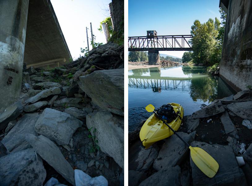 sketchy kayak launch skagit river
