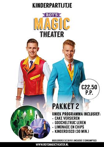 Kinderpartijtje pakket 2 | Roy's Magic Theater
