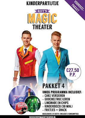 Kinderpartijtje pakket 4 | Roy's Magic Theater