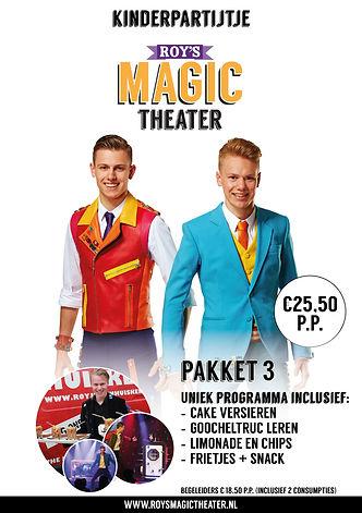 Kinderpartijtje pakket 3 | Roy's Magic Theater