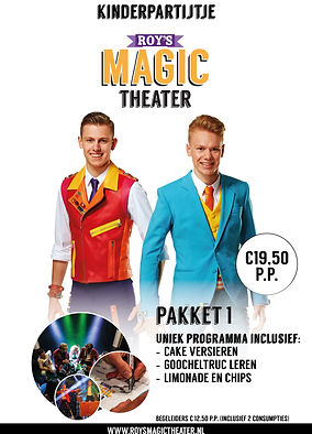 Kinderpartijtje pakket 1 - Roy's Magic Theater