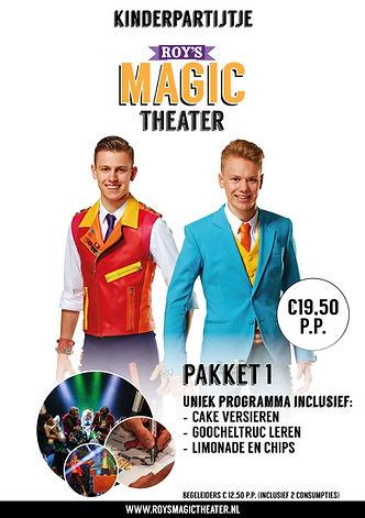 Kinderpartijtje pakket 1 | Roy's Magic Theater