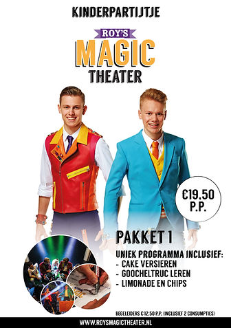 Kinderpartijtje pakket 1 | Roy's Magic Theater