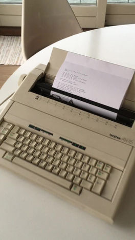 "Autonomous typewriter for ""[Conditoriet]"""