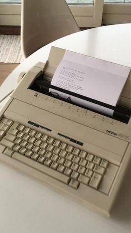 "Autonomous typewriter for ""[Conditoriet]"""