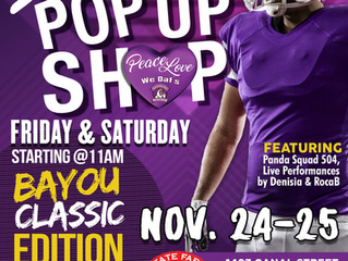 We Dat's 2017 Bayou Classic Weekend Events to Feature POP Up Shops, Performances & More