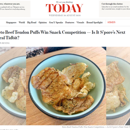 Today: Keto Beef Tendon Puffs Win Snack Competition