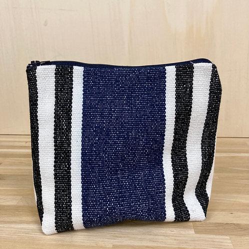 Trousse Rayures bleues et noires - Pagatou