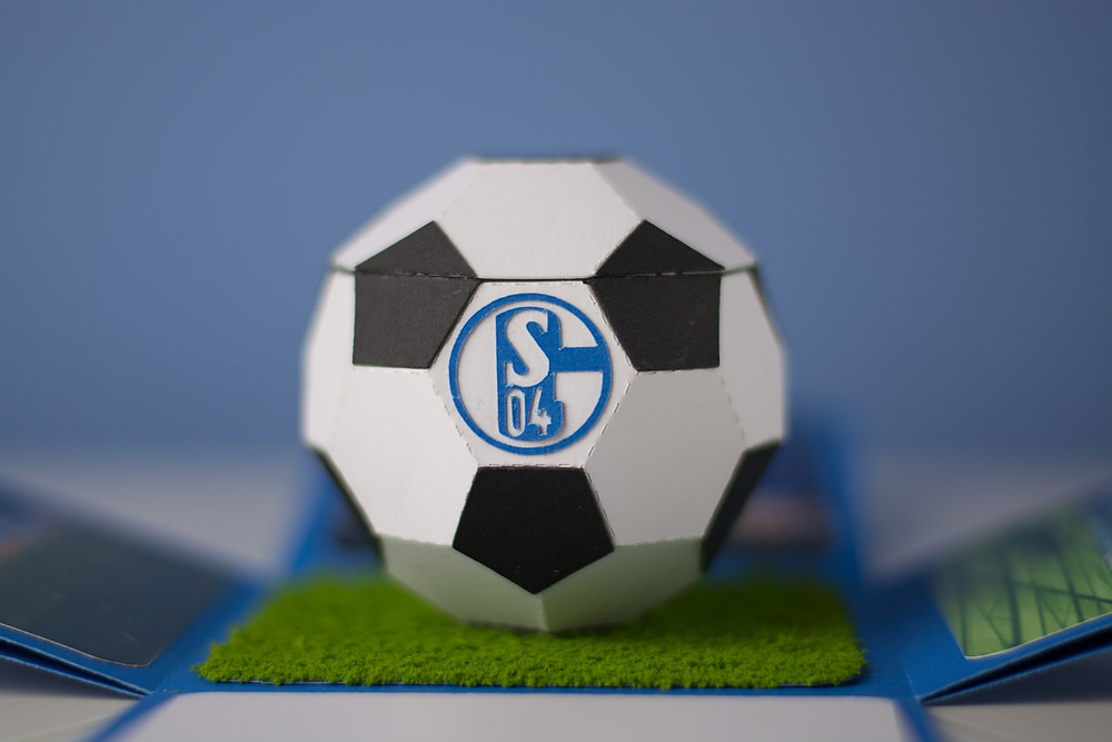 Football with Schalke04 logo