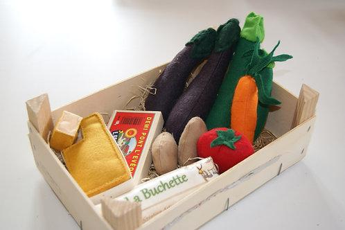 Cagette composée Légumes + 2 BOF