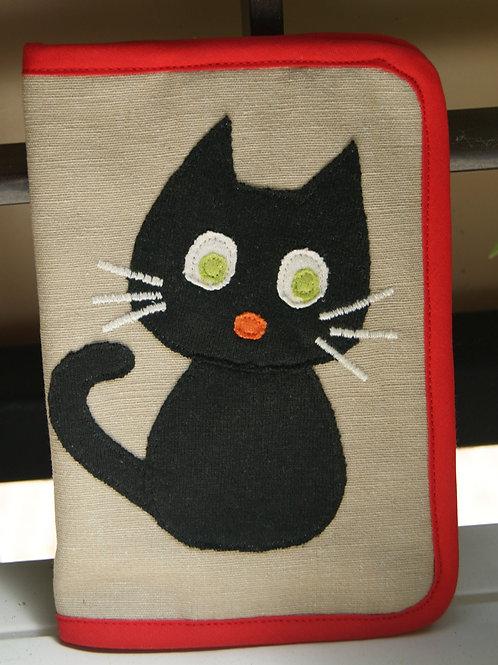 Protège Carnet Chat Noir