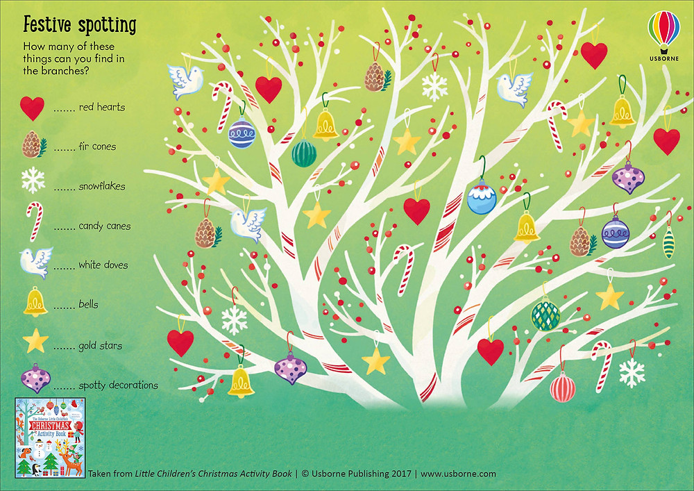 Usborne Christmas activity sheet