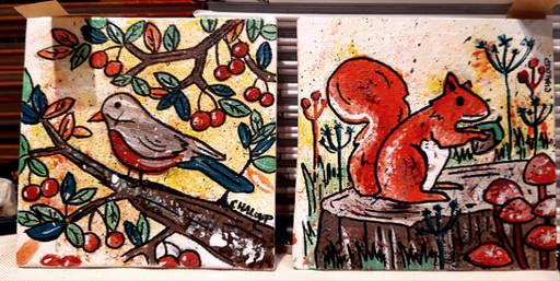 oiseau - Ecureuil
