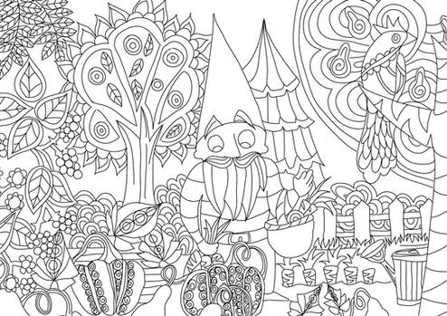 """Carte postale à colorier """"Les lutins""""_2"""