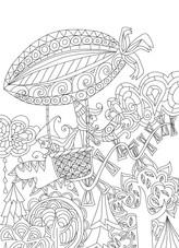 """Carte postale à colorier """"Les lutins""""_3"""