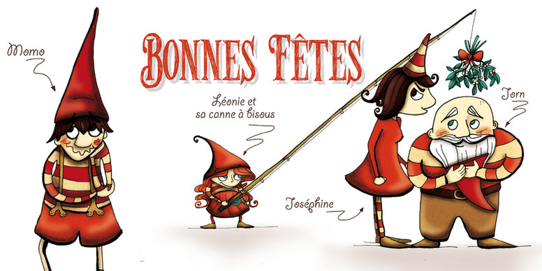 """Carte de voeux """"Les lutins""""_ 2"""