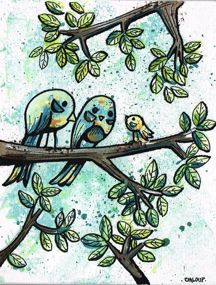 Famille d'oiseaux