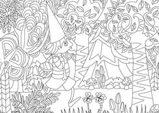 """Carte postale à colorier """"Les lutins""""_6"""