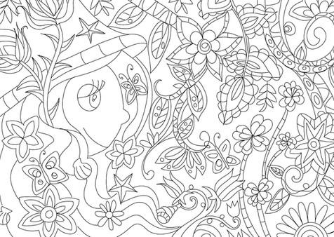"""Carte postale à colorier """"Les lutins""""_1"""