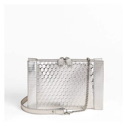 Bubble Wrap Crossbody Bag , Silver.