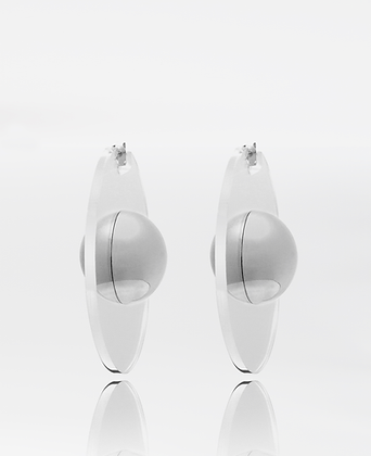 Saturnus Earrings, in Silver 925 Sterling