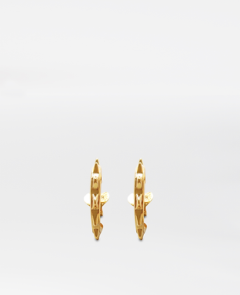 Liberty Mini Hoops, in Gold Vermeil