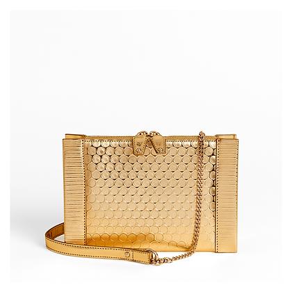 Bubble Wrap Crossbody Bag , Gold.