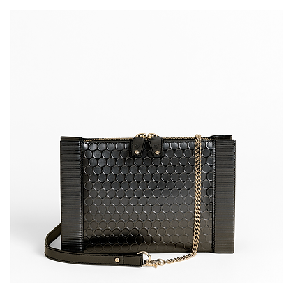 Bubble Wrap Crossbody, Petrol Black.