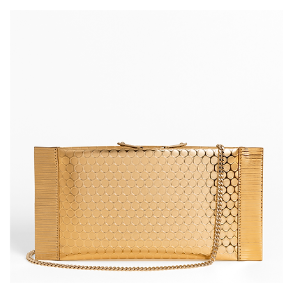 Bubble Wrap Clutch, Gold.