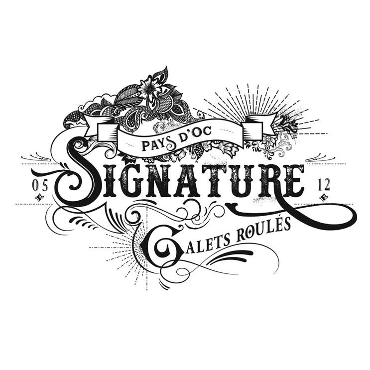 Etiquette de vin Signature by Vellas