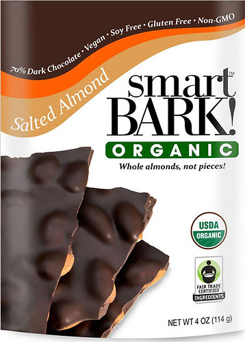 Vegan Organic Chocolate Bark w/ Salted Almonds 2 Pack