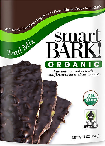 Vegan Organic Chocolate Bark w/ Trail Mix 2 Pack