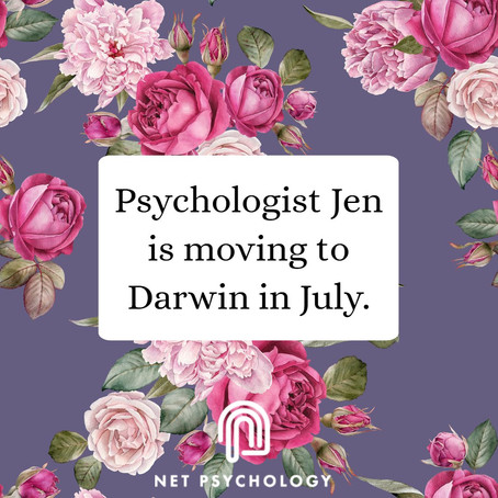 Psychologist Jen is moving