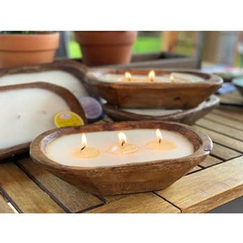 3 wick doughbowl candle