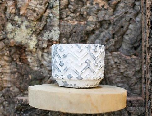Whitewashed Ceramic Jar