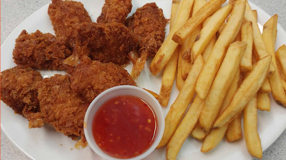 Fried Shrimp with Fries