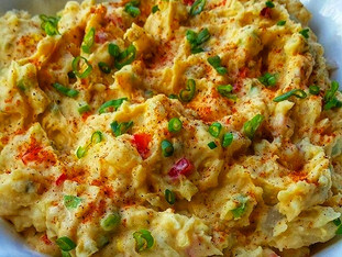 "CCQ's ""Island Potato Salad""... If you make this Potato salad, prepare yourself to be t"