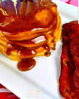 """Saturday mornings will never be the same...try my """"Haitian Cake Buttered Pancakes with Warm Spi"""