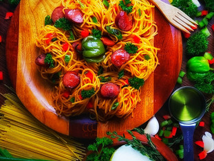 """How could something so simple be so delicious....Haitian Spaghetti.. like Mama use to make. """"Su"""