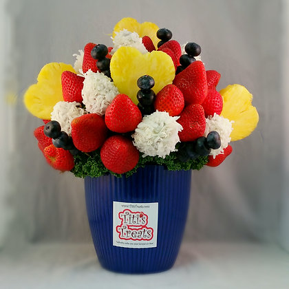 Red, White & Blueberry Love Bouquet (4 sizes)