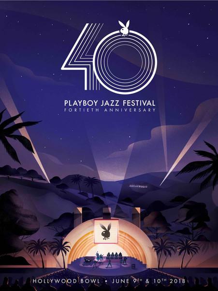 40th Anniversary Playboy Jazz Festival Poster