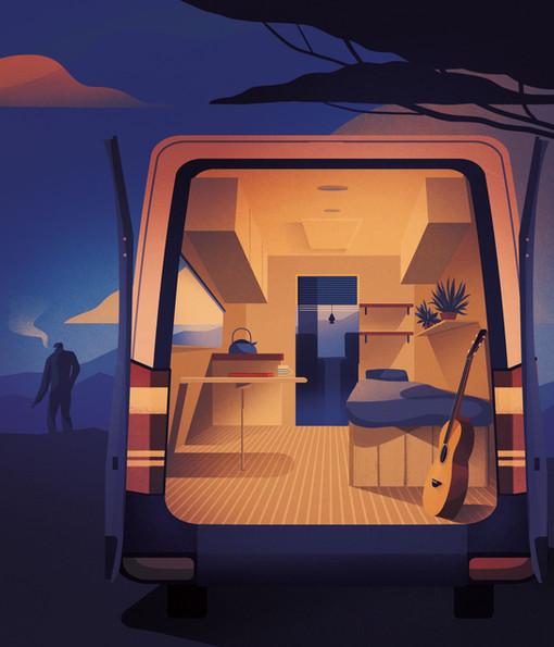Converted Van