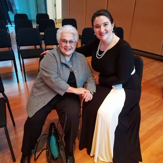With Marilyn Horne
