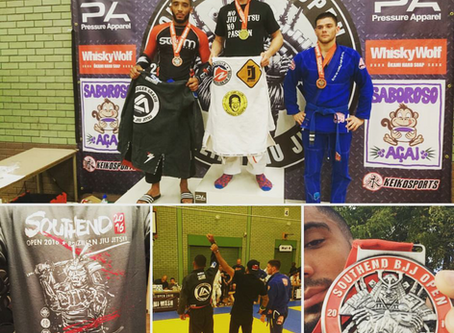 Mo takes silver in first blue belt competition.