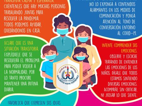 ¿Cómo actuar frente a los niños si tenemos contagios de COVID-19?