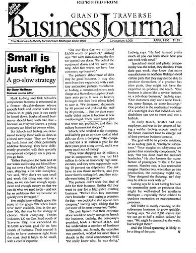 Business article about successful local business