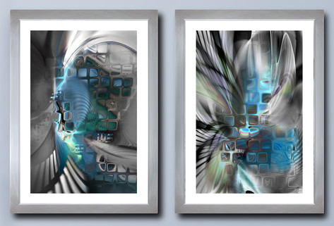 Chrysalis and Emergence diptych